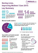 MBRRACE-UK Saving Lives, Improving Mothers' Care lay summary
